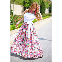 Платье белый верх коттон-прошва