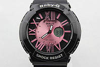 Женские спортивные Часы Casio G-Shock  BABY-G BGA-160 BLACK - ROSE (касио джи шок)