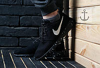 Крутые женские кроссовки найк рош ран, Nike Roshe Run Black
