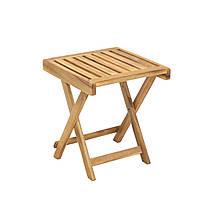 Приставной столик из дерева акации FINLAY 40х40 см складной