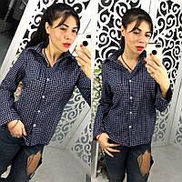 Рубашка женская стильная в клетку ,магазин женской одежды
