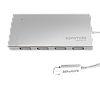 USB-хаб Promate miniHub-C4 Silver (minihub-c4.silver)