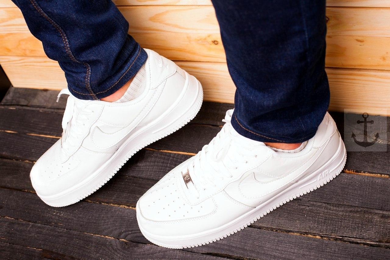 eba46bb40697 Белые женские кроссовки найк аир форс, копия Nike Air Force White ...