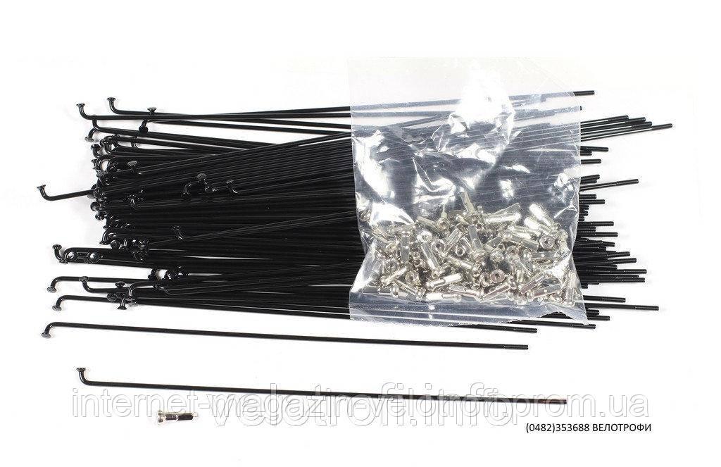 Спица стальная чёрная 290 мм