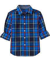 Рубашка синяя в клетку Gymboree для мальчика