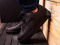 Модные женские кроссовки найк аир форс, Nike Air Force Black