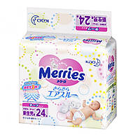 Подгузники Merries Newborn 5 кг, 24 шт.