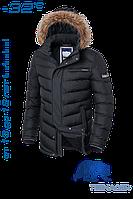 Куртка зимняя темно-серая для мальчика подростка