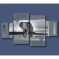"""Модульная картина """"Африканский слон"""""""