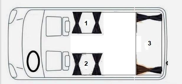 Шторы для микроавтобусов на 3 окна