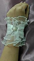 Свадебные перчатки манжеты белые