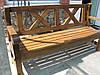 Скамья деревянная мебель для дачи Сталинка со спинкой 1,6м