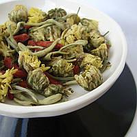Чай Комбинированный чай ( белый чай, хризантема, цветы жимолости, ягоды годжи)