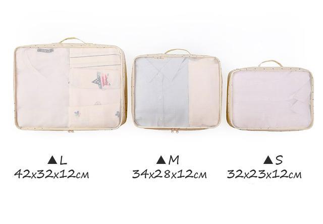 Размеры дорожного комплекта сумочек в чемодан