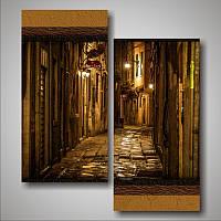 """Модульная картина """"Старинная улочка. Италия"""""""