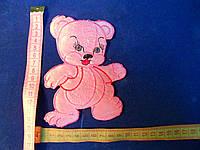 Термоаппликация на силиконовой основе Мишка розовый
