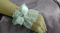 Свадебные перчатки манжеты айвори кружевные