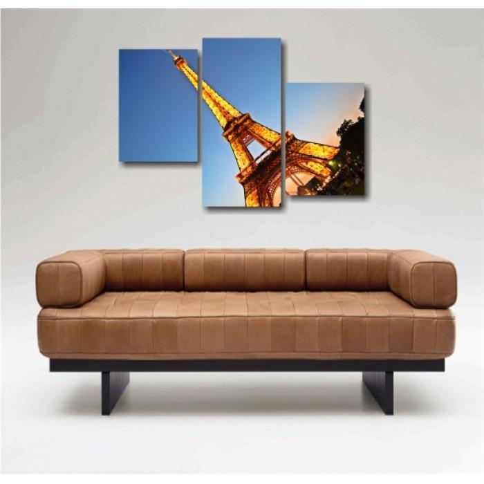 "Модульная картина ""Париж. Эйфелевая башня"""