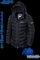 Куртка зимняя для мальчика подростка черная