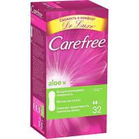 Розпродаж -8% Термін зберігання до 01.09.2018 Прокладки щоденні Carefree Aloe 32шт/уп.