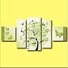 "Модульная картина ""Весеннее дерево"", фото 2"