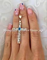 Серебряный крестик с накладками золота и камнями, фото 1