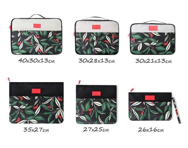 Комплект сумочек в чемодан размеры