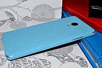 """Виниловая наклейка """"Голубая алмазная крошка"""" Meizu M3S (задняя часть) 0,11 mm"""