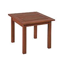 Приставной столик из дерева меранти Bordeaux 50х50 см