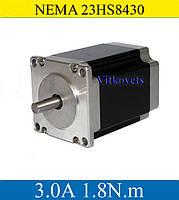 Двигатель шаговый 23HS8430  3.0A 18 кг/см ЧПУ CNC