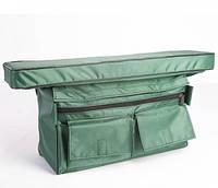 Мягкое сидение + сумка рундук  Шторм 650х200х50 (зеленый)