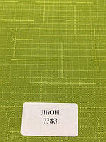 Рулонная штора Лен зеленая