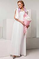 Красивое платье макси с бантами на плечах и открытой спиной💅💅💅Ткань поплин Длина 158см,грудь98см флав №1089
