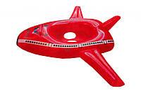Детский круг надувной для ножек Самолет Красный