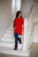 Стильное красное пальто Элен для девочки