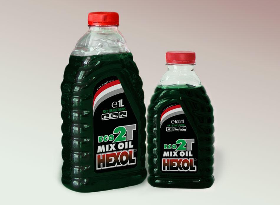 Моторне мастило для двотактних двигунів Hexol 2T Eko Green ( 0,5 л.)