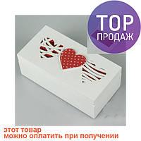 Деревянная шкатулка Три сердца / шкатулка для украшений