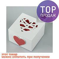 Деревянная шкатулка Сердце / шкатулка для украшений