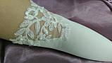 Свадебные перчатки с гипюром айвори (бежевые), фото 2