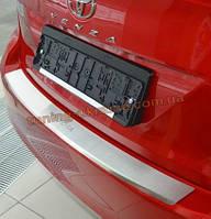 Накладка на задний бампер с загибом NataNiko на Toyota Venza FL 2013