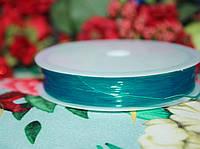 Эластичная силиконовая нить бирюзовая (0,8мм, 10м.)