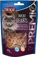 Лакомства для кошек TRIXIE Premio Hearts (курица/рыба) 50гр