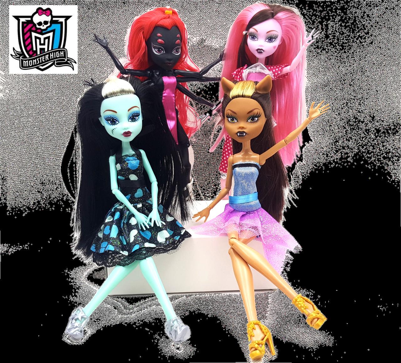 Набор кукол Монстер Хай 4в1 - Monster High Dolls - Azolla интернет-магазин в Каменском