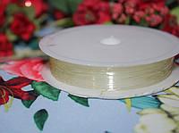 Эластичная силиконовая нить молочная (0,8мм, 10м.)