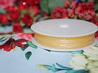Эластичная силиконовая нить айвори (0,8мм, 10м.)