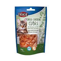 Лакомства для кошек TRIXIE Premio Cheese Chicken Cubes (курица/сыр) 50гр