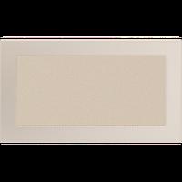 Вентиляційна решітка для каміна бежева, чорна, графітова, золотий, срібний, мідний 17х30 см, фото 1