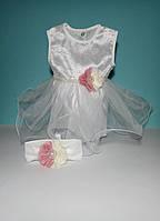 Крестильное платье, в наборе 4 предмета.