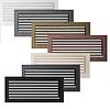 Вентиляційна решітка для каміна бежева, чорна, графітова, золота, срібна 17х37 см з жалюзі