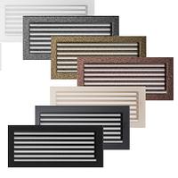 Вентиляционная решетка для камина бежевая, чёрная, графитовая, золотая, серебряная 17х37 см с жалюзи